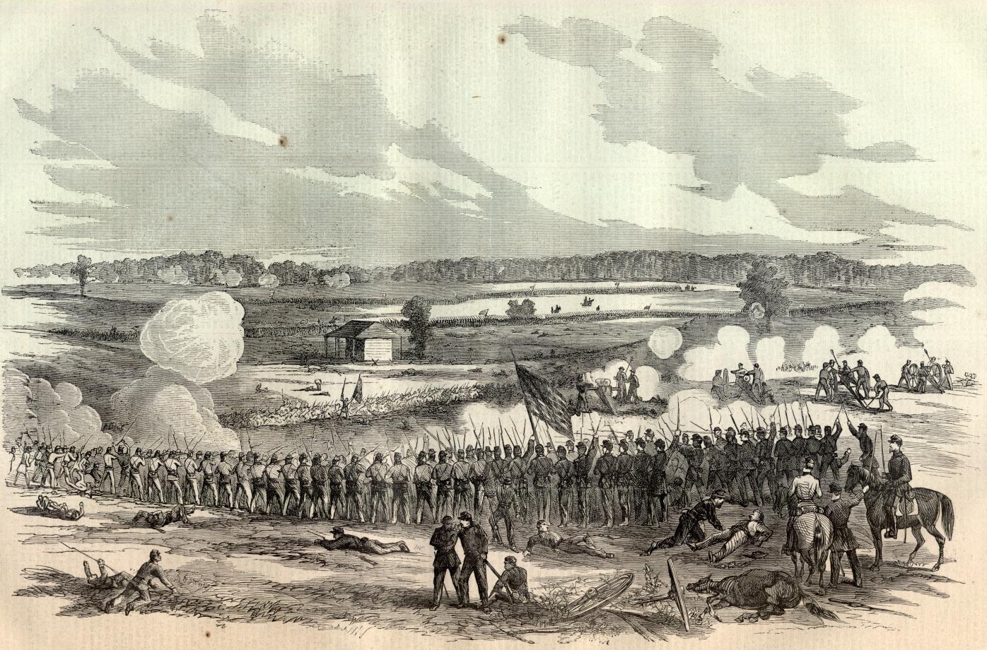 Harper's Weekly Depiction of Perryville Battle, Nov 1, 1862